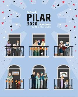 Cartel no oficial fiestas del Pilar